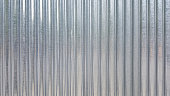 White Corrugated metal or zinc texture surface