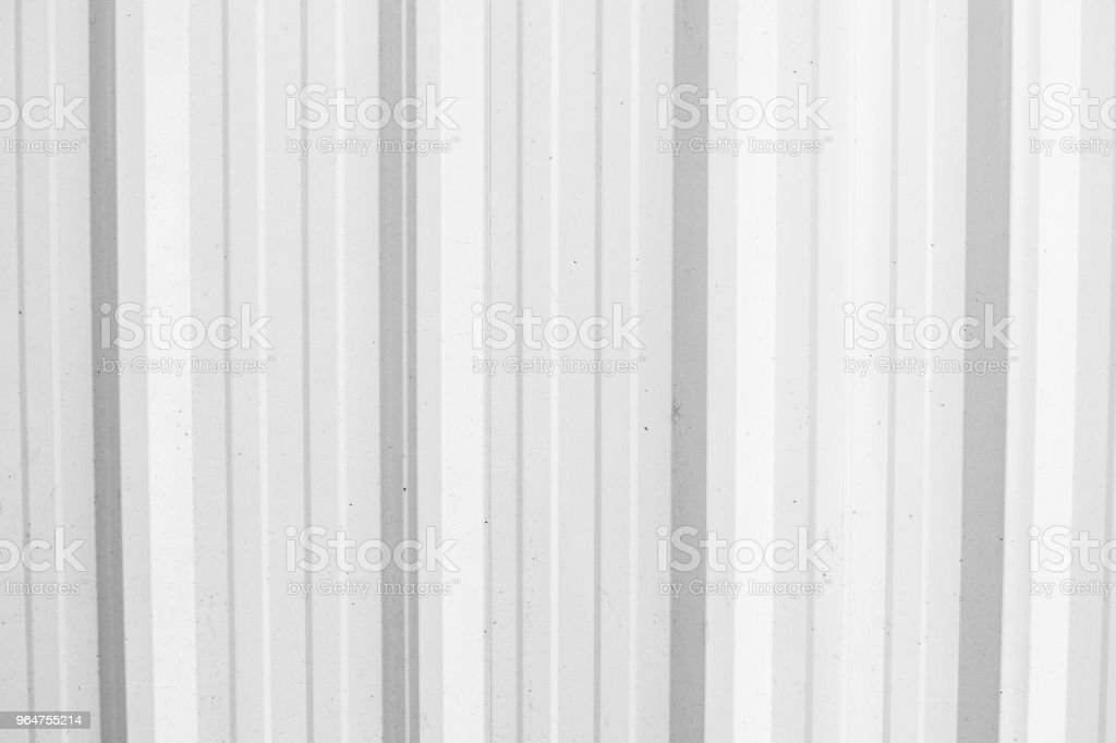 White Corrugated metal texture surface or galvanized steel background royalty-free stock photo