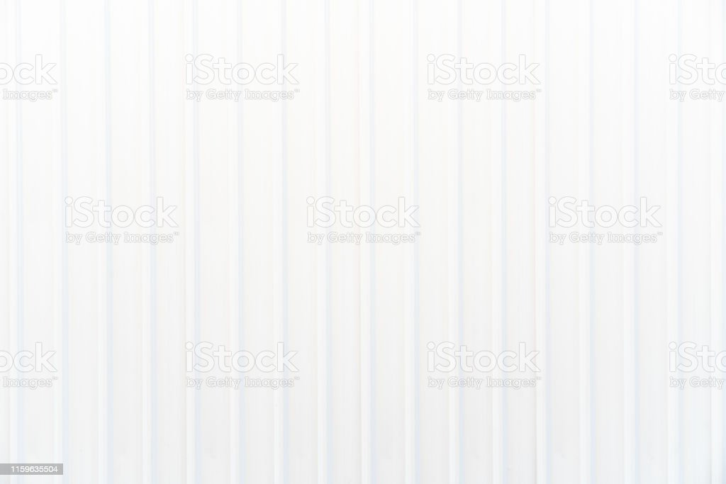 White corrugated metal wall texture. Horizontal background texture.