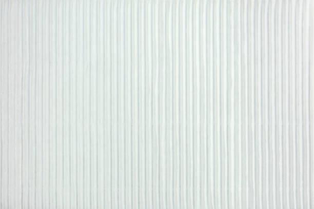 Blanc ondulé texture rayée de la surface en carton - Photo