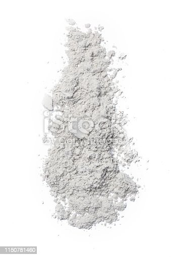 White cosmetic powder isolated on white background