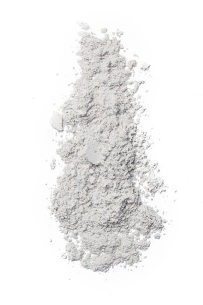 White cosmetic powder isolated on white background White cosmetic powder isolated on white background face powder stock pictures, royalty-free photos & images