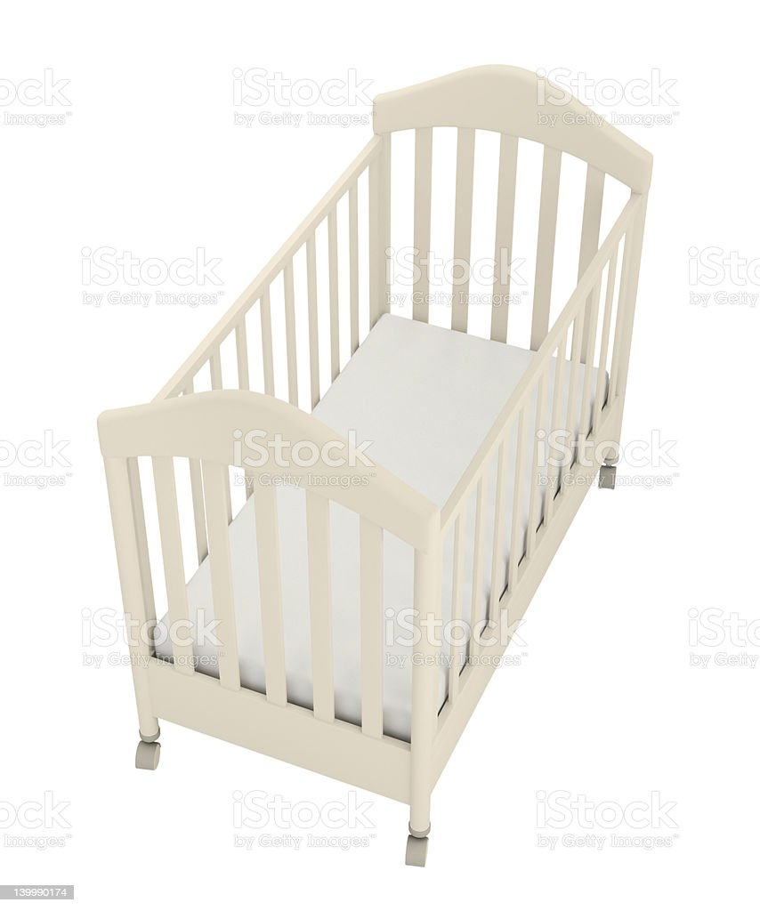 White cot royalty-free stock photo