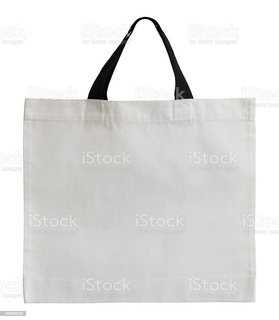 Bolsa de algodón blanco Aislado en blanco - foto de stock