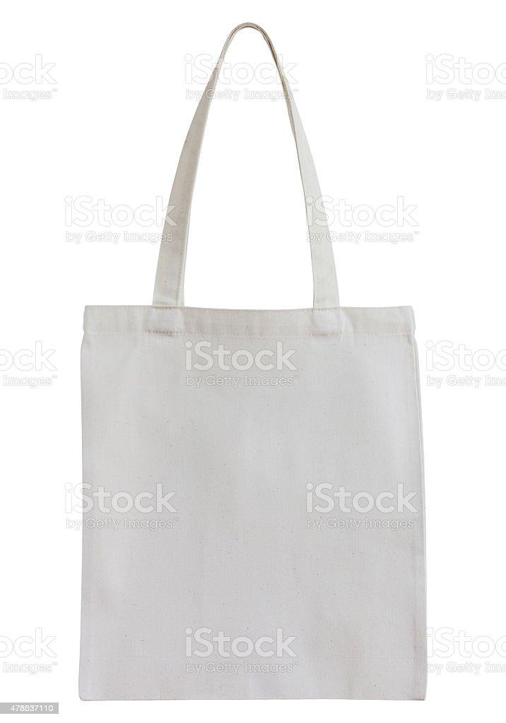 white cotton bag isolated on white stock photo