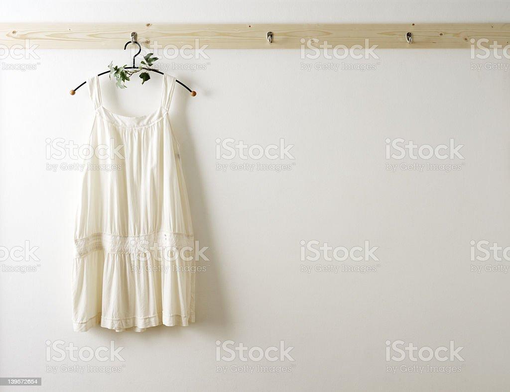 White cotton clothes royalty-free stock photo