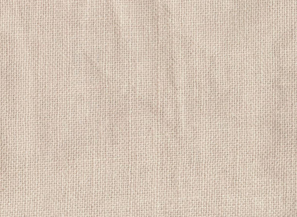 White cotton fabric texture background stock photo