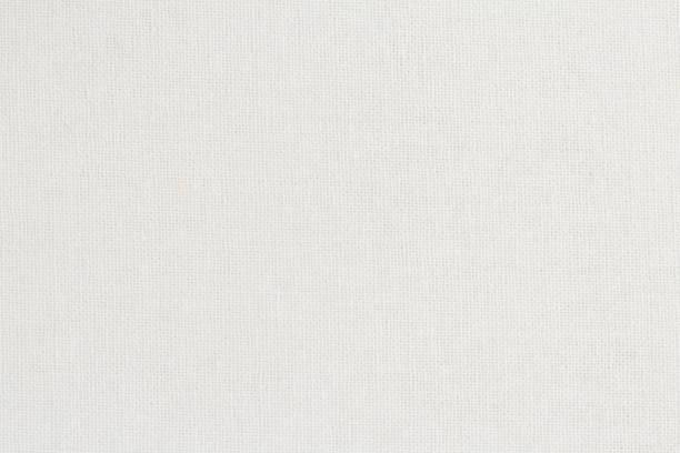 白い綿生地テクスチャ背景、自然な繊維のシームレスなパターン。 - 刺繍 ストックフォトと画像