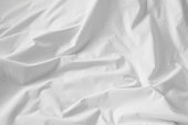 White cotton sheet texture or background