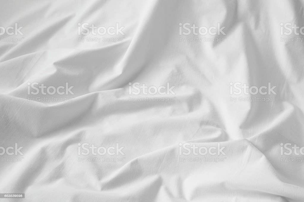 White cotton sheet texture or background stock photo