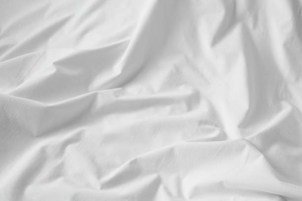 White cotton sheet texture or background stock photo