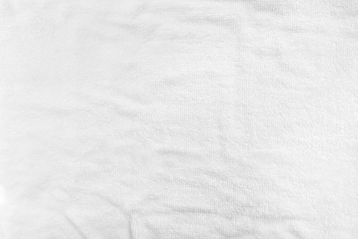 White cotton towel mock up template fabric