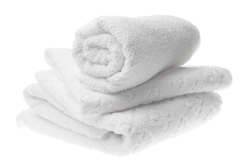 1131900491 istock photo White cotton towels stack isolated 500197001