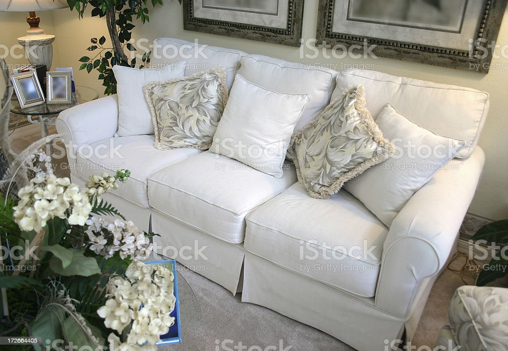 White Couch royalty-free stock photo