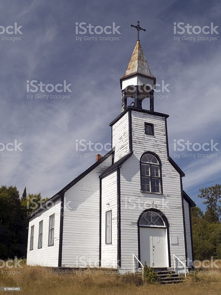 White Country Church royalty-free stock photo