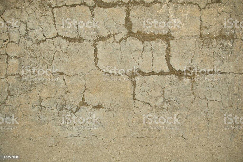 White Cracked Wall royalty-free stock photo