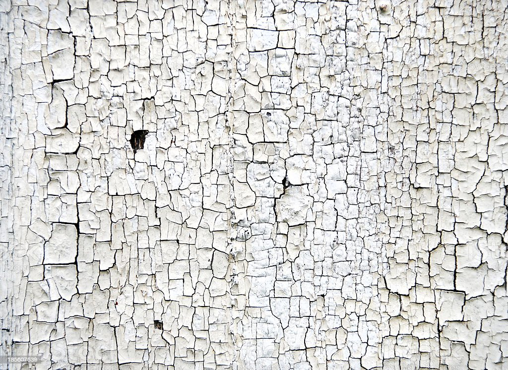 White Crackled Wood Texture royalty-free stock photo