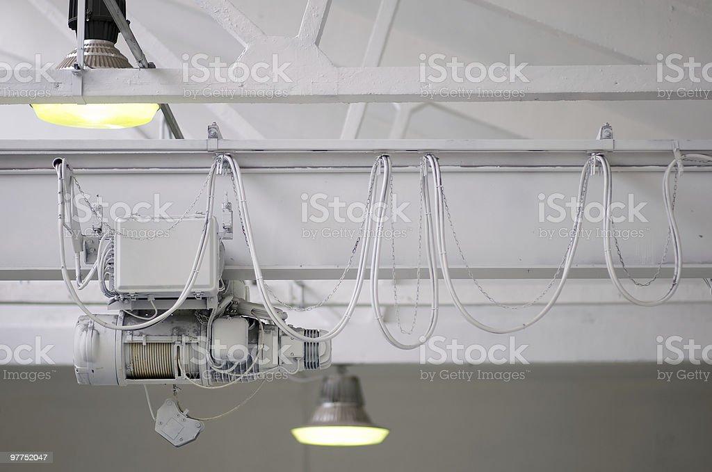 Gru bianca bianco lampade - foto stock