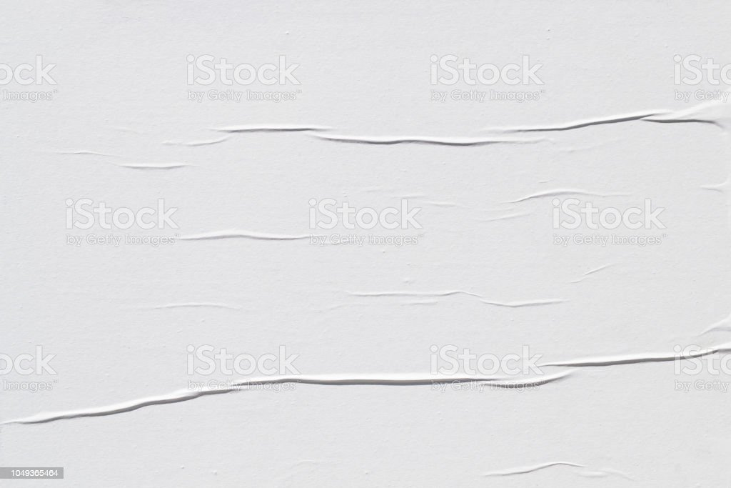 White creased poster texture - Royalty-free Abstract Stock Photo