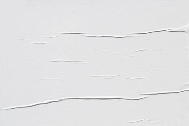 White creased poster texture stock photo