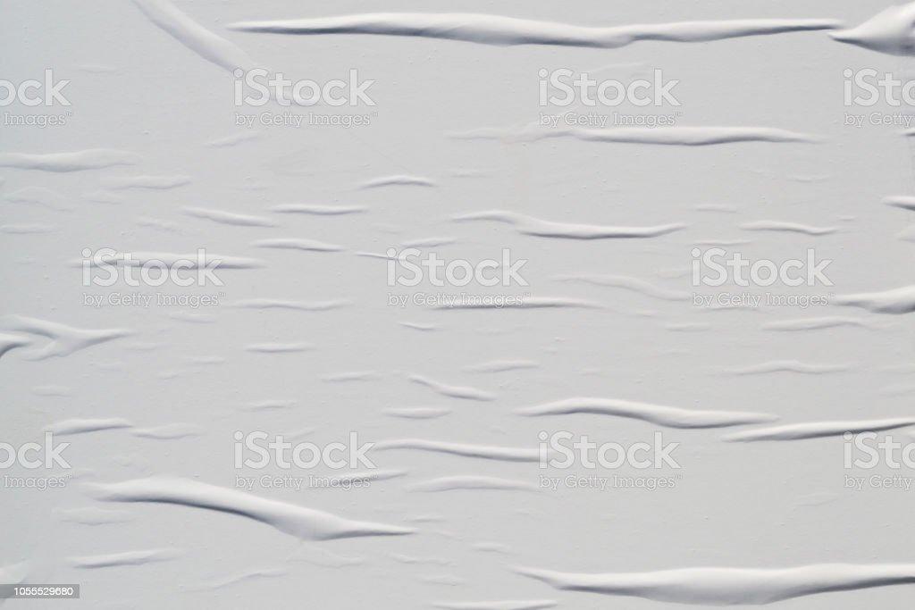 Blanca arrugada textura cartel foto de stock libre de derechos