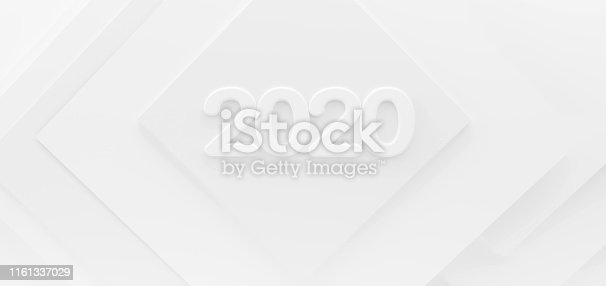 istock 2020 white creative abstract modern background 3d-illustration 1161337029