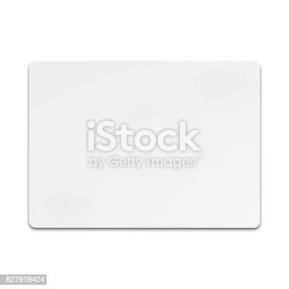 Isolated shot of blank paper on white background and shadow with clipping path