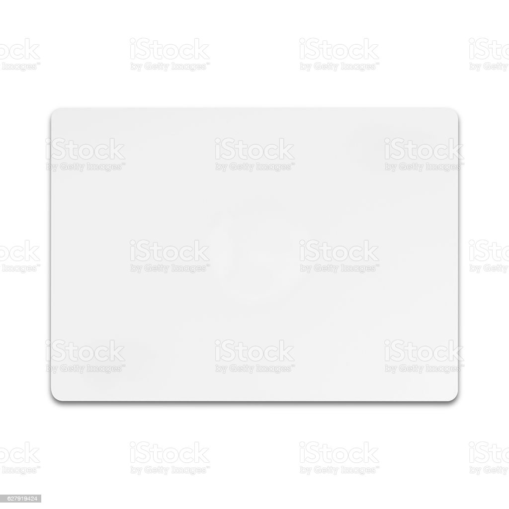 White credit card isolated on white background with clipping pat stock photo