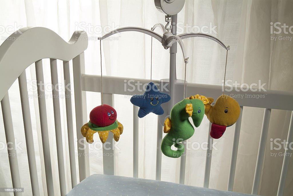 white crib royalty-free stock photo