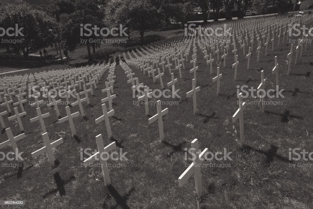 White cross au Mémorial de la première guerre mondiale - Photo