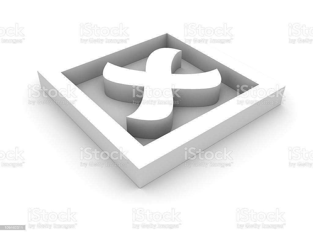 White cross mark royalty-free stock photo