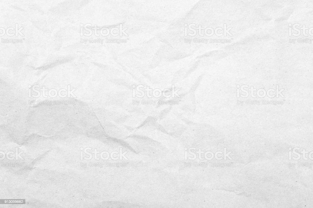 White Faltig Weißbuch Textur Hintergrund – Foto