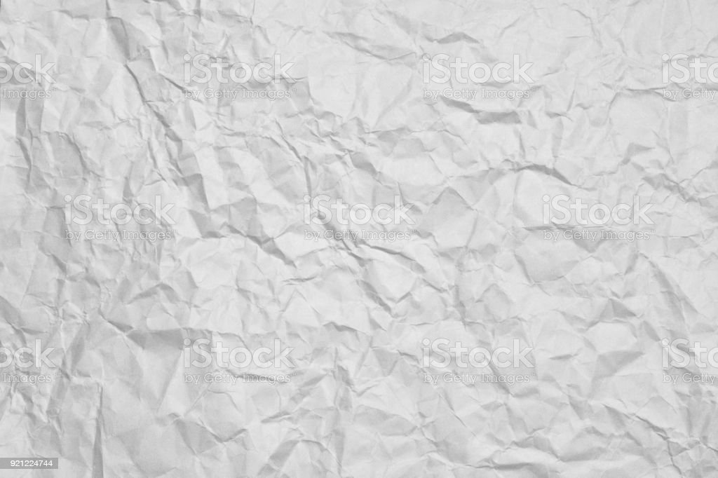 White Crumpled Paper Texture Background Stock Photo ...