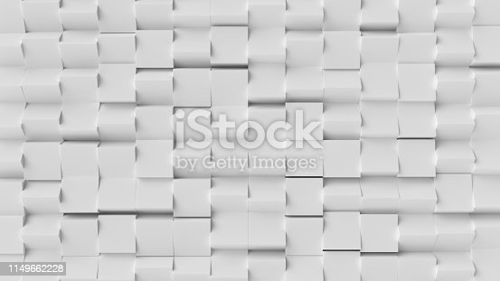 517581264 istock photo White cube abstract background. Abstract white blocks. 3d illustration, 3d rendering. 1149662228
