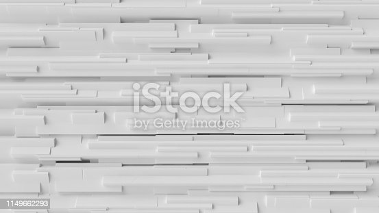 517581264 istock photo White cube abstract background. Abstract white blocks. 3d illustration, 3d rendering. 1149662293
