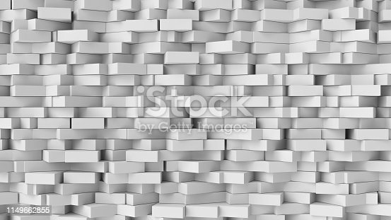 517581264istockphoto White cube abstract background. Abstract white blocks. 3d illustration, 3d rendering. 1149662855