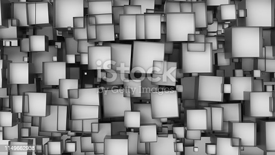 517581264istockphoto White cube abstract background. Abstract white blocks. 3d illustration, 3d rendering. 1149662938