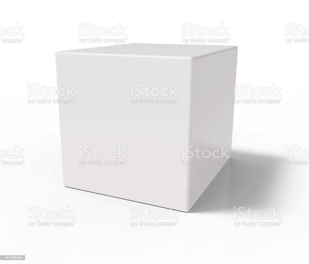 White cube stock photo