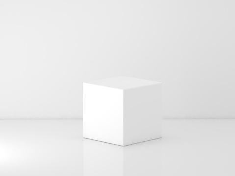 white cube podium