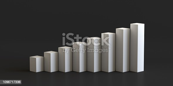 istock White cube podium step on blank wall background. 3D rendering. 1096717336