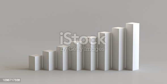 697820188 istock photo White cube podium step on blank wall background. 3D rendering. 1096717338