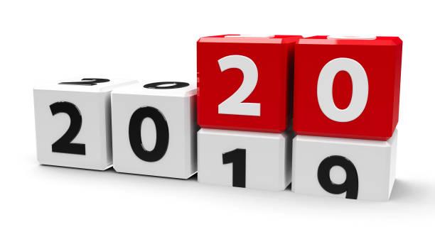 Cubos blancos 2020 - foto de stock