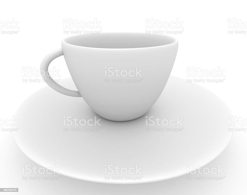 white cup of coffe royalty-free stock photo