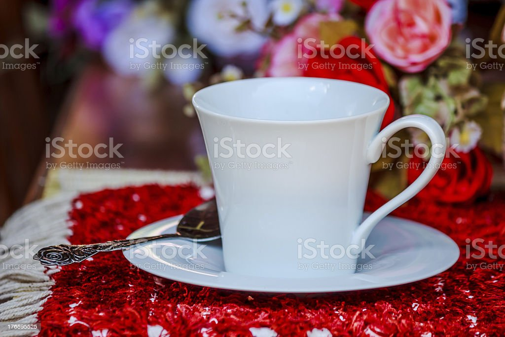 White cup of coffee royalty-free stock photo
