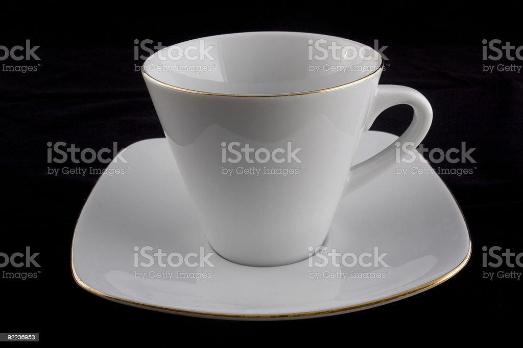 white cup on black background royalty-free stock photo