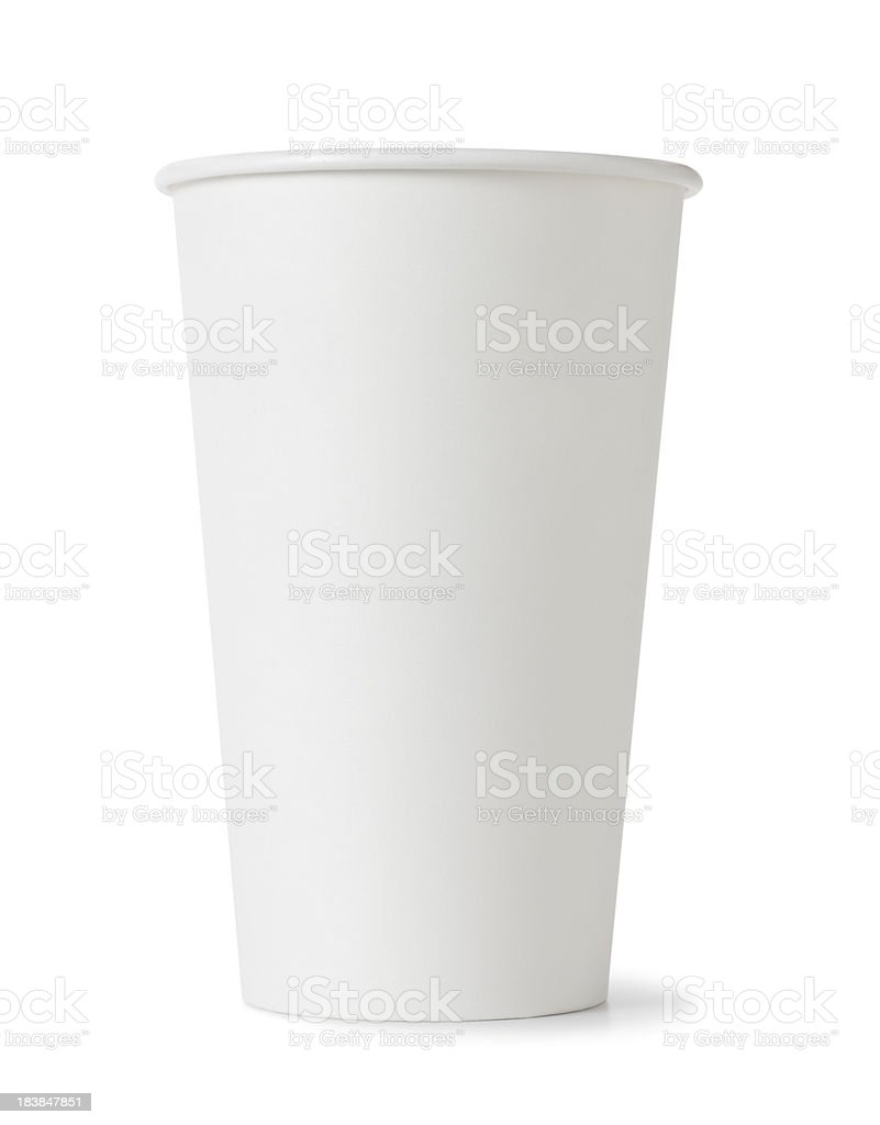 White Cup stock photo