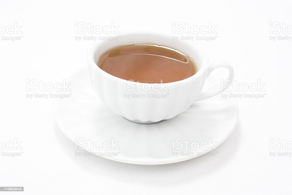 White cup tea royalty-free stock photo