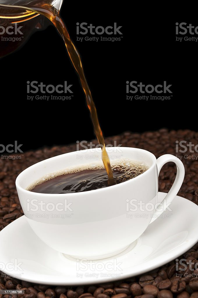 white cup with coffee royalty-free stock photo
