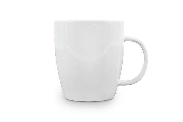 white cup with space for logo - contains clipping paths. - 杯 個照片及圖片檔