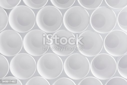 White cups seamless pattern background